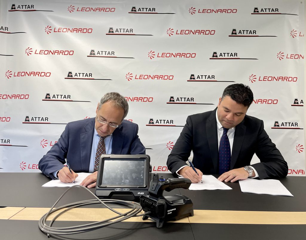 ATTAR and Leonardo Australia signing agreement for advanced NDT services